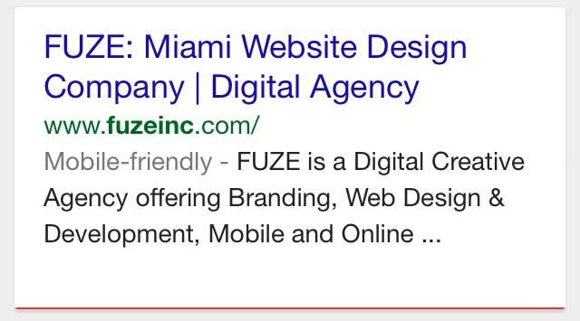 Google's Mobile-friendly label